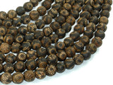 Crackle Tibetan Agate, 10mm(9.8mm) Round Beads, 14 Inch, Full strand