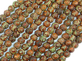 Crackle Tibetan Agate, 6mm Round Beads, 14 Inch, Full strand