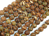 Crackle Tibetan Agate, 8mm Round Beads, 14.5 Inch, Full strand