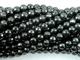 Hematite, 6mm Faceted Round Beads-BeadBasic