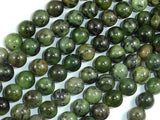 Dendritic Green Jade Beads, 8mm Round Beads-BeadBasic