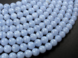 Blue Chalcedony Beads, Blue Lace Agate Beads, 8mm Round Beads-BeadBasic