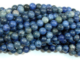Dumortierite, 6mm Round Beads-BeadBasic