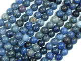 Dumortierite, 6mm (6.3mm) Round Beads, 15.5 Inch, Full strand