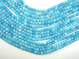 Frosted Matte Agate - Sea Blue, 6mm Round Beads, 15 Inch, Full strand
