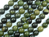 African Green Autumn Jasper Beads, 10mm (10.4mm) Round Beads, 15.5 Inch, Full strand