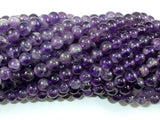 Amethyst Beads, Apptox 5.5mm Round Beads, 15.5 Inch, Full strand