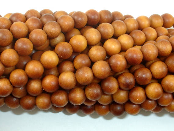 Sandalwood Beads, 6mm(6.3mm) Round Beads, 25 Inch, Full strand
