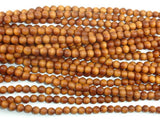 Sandalwood Beads, 6mm Round Beads-BeadBasic