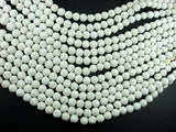 White Lava Beads, 8mm Round Beads, 15.5 Inch-BeadBasic