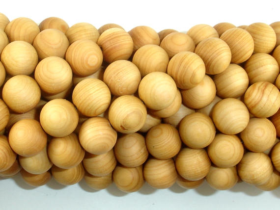 Cedar Wood Beads, Thuja Sutchuenensis, 10mm Round-BeadBasic