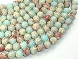Matte Impression Jasper, 8mm(8.3mm) Round Beads, 15 Inch, Full strand