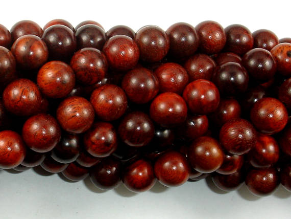 Rosewood Beads, 10mm Round Beads-BeadBasic