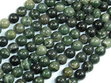 Green Rhodonite Beads, 8mm Round Beads-BeadBasic