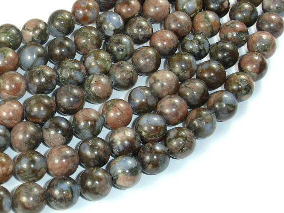 Rhyodacite Beads, 10mm(10.5mm) Round Beads-BeadBasic