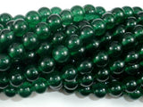 Jade Beads, Emerald, 8mm Round Beads-BeadBasic