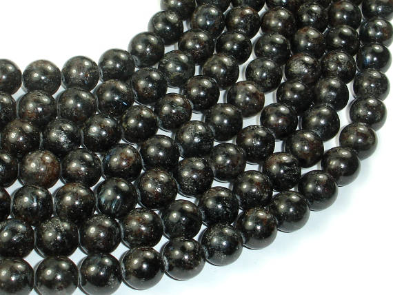 Astrophyllite Beads, 10mm(10.5mm) Round Beads, 15.5 Inch, Full strand