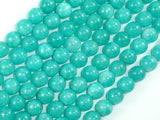 Sponge Quartz Beads-Teal, 8mm Round Beads-BeadBasic