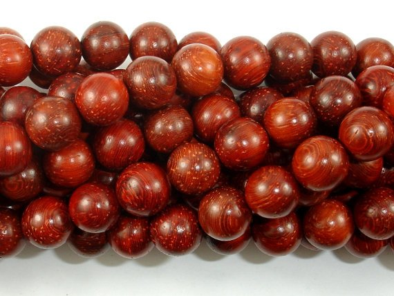 Red Sandalwood Beads, 10mm Round Beads-BeadBasic