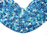 Banded Agate Beads, Striped Agate, Blue, 8mm Faceted Round Beads-BeadBasic
