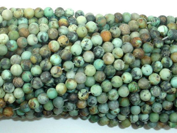 Matte African Turquoise Beads, 4mm (4.5mm) Round Beads, 14.5 Inch, Approx 88 beads