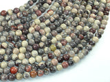 Porcelain Jasper, 6mm(6.3mm) Round Beads, 15.5 Inch, Full strand