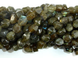 Labradorite Beads, 8x10mm Faceted Nugget Beads-BeadBasic