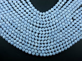 Blue Chalcedony Beads, Blue Lace Agate Beads, Round, 6mm-BeadBasic