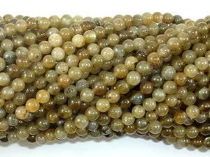 Labradorite Beads, 4mm Round Beads-BeadBasic