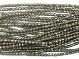 Pyrite Beads, 4mm Faceted Round, 16 Inch, Full strand