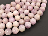 Kunzite Beads, 11mm Round Beads-BeadBasic