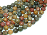 Picasso Jasper Beads, 10mm Round Beads-BeadBasic