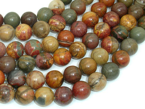 Picasso Jasper Beads, Round, 12mm-BeadBasic