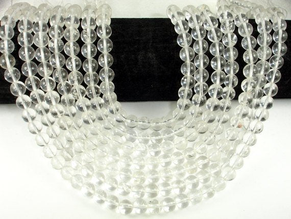Clear Quartz  Beads, 8mm(8.6mm)  Round Beads, 15.5 Inch, Full strand