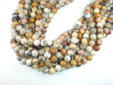 Crazy Lace Agate Beads, 10mm (10.5 mm) Round Beads, 15.5 Inch, Full strand