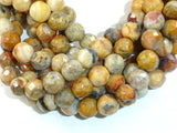 Crazy Lace Agate Beads Faceted Round, 8mm-BeadBasic