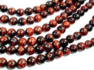 Red Tiger Eye Beads, Round, 6mm-BeadBasic