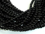 Black Onyx Beads, AA Grade Round, 4mm-BeadBasic