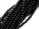 Black Onyx Beads, AA Grade Round, 4mm, 16 Inch