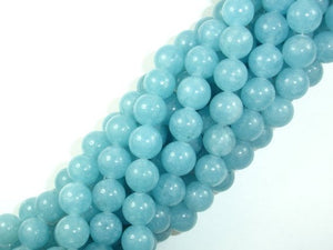 Blue Sponge Quartz Beads, Round, 10mm-BeadBasic