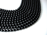 Black Tourmaline Beads, 8mm (8.5mm) Round Beads-BeadBasic