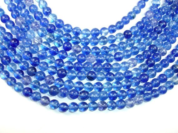 Blueberry Quartz , 8mm (8.8 mm) Round bead, 15.5 Inch, Full strand