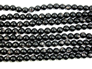 Hypersthene Beads, Round, 6mm-BeadBasic