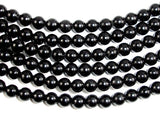 Jet Gemstone Beads, Round, 6mm-BeadBasic