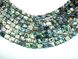 Abalone Beads, Rectangle, 8mm x 10mm, 15.5 inch-BeadBasic