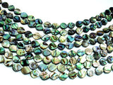 Abalone Beads, Flat Teardrop, 7 x 9mm, 15 inch-BeadBasic