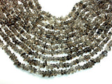 Smoky Quartz Beads, Pebble Chips, 6mm-9mm-BeadBasic