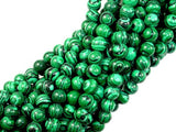 Malachite Beads - Synthetic, Round, 6mm, 15.5 Inch