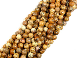 Picture Jasper Beads Round, 6mm-BeadBasic