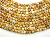 Picture Jasper Beads Round, 8mm-BeadBasic